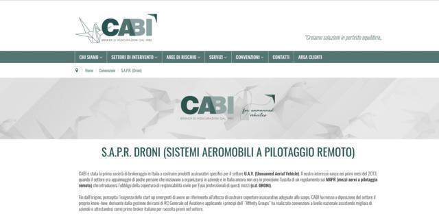 Cabi Broker Assicurazioni Droni Sapr