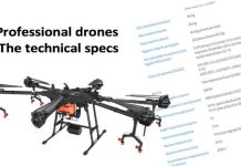 Drones Professional Technical Specs