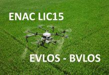 EVLOS-BVLOS LIC15 ENAC - normativa droni