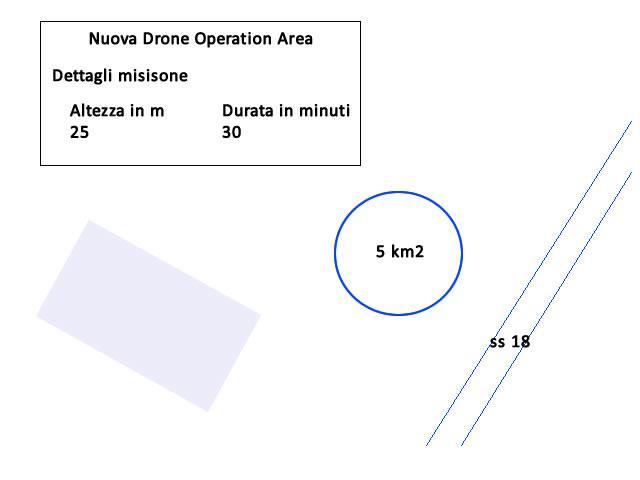 Drone Operation Area Esempio Cerchio