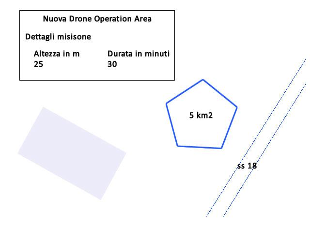 Drone Operation Area Esempio Poligono