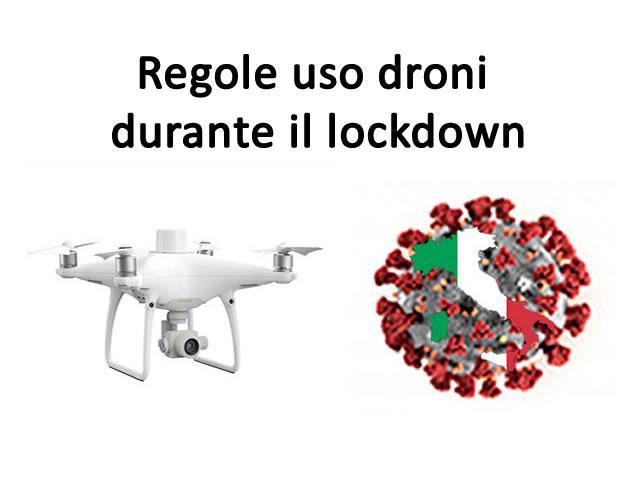 Note Droni Coronavirus