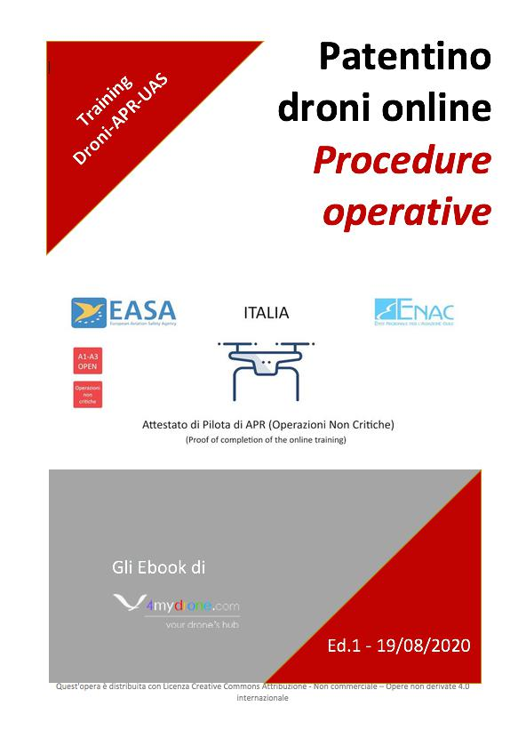 Patentino Droni Online Procedure Operative 4mydrone Cover